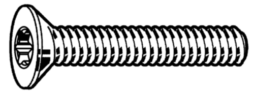 Hexalobular socket countersunk head screw DIN ≈7991 Steel Zinc plated 08.8