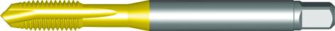 Dormer Machine tap EP00TIN DIN 371 LE 10, 376 GE 12 N/A HSSE TiN M24x3.00mm