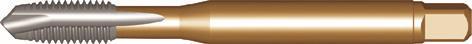 Dormer Macho de roscar de máquina EP20 DIN 2184-1 N/A HSSE Laton No.5x40