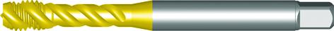 Dormer Macho de máquina EX00TIN DIN 371 LE 10, 376 GE 12 N/A HSSE TiN M8x1.25mm