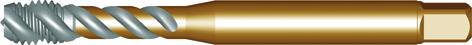 Dormer Machine tap EX10 DIN 374 HSSE Brass M14x1.00mm