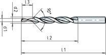 Fabory Jobber drill RN-fine HSS Blanc 19,0-10,5MM