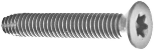 Hexalobular socket countersunk head thread cutting screw Steel Zinc plated
