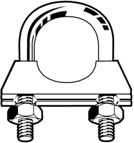 Abrazadera 8mm Acero Cincado 64/65MM