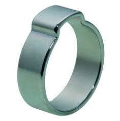 One-ear clip  Steel  Zinc plated with thick Cr(III) passivation