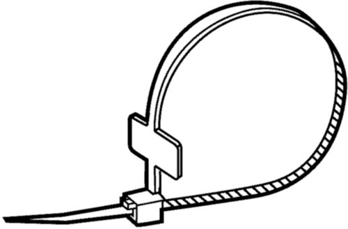 Cable ties with label