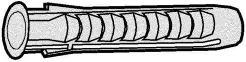 FISCHER Diblu tip SX Plastic Nilon (poliamidă) SX