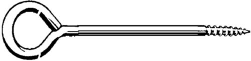 Lang schroefoog Staal Elektrolytisch verzinkt