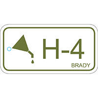 Brady Energy source tag hydraulic 4 25PC