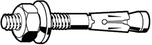 SPIT Through bolt anchor Steel Zinc plated