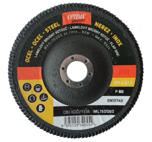 Optima Flap disc 150 X 22,2 GRAIN 60