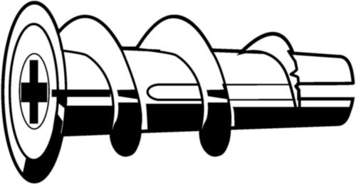 FISCHER Gipsplaatplug Kunststof Nylon (polyamide)