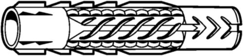 FISCHER Muurplug universeel UX/UX-R Kunststof UX UX 10