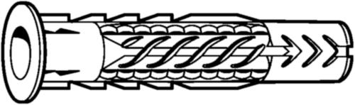 Fischer Kołki uniwersalne, typ UX/UX-R Plastik UX-R