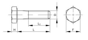 Zeskantbout, zware uitvoering UNC overmaats ASME B18.2.1 Koolstofstaal ASTM A307 Thermisch verzinkt Gr.B overmaats 3/4-10X1.3/4