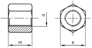 Trackshoemoer zeskant hoog Automatenstaal hoog 1 InchX33