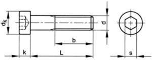 Hatlapú belső kulcsnyílású, alacsonyfejű csavar DIN 7984 Acél Horganyzott 08.8 M3X6