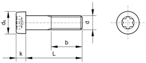 Vis à tête cylindrique à six lobes internes ISO 14580 Acier inoxydable (Inox) A2 50 M3X35