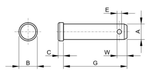 Bolzen ASME b18.8.1 ASME B18.8.1 Rostfreistahl AISI 304 5/8X3.1/2