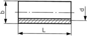 Tuerca cilindrica Acero de corte Cincado M20X50