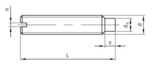 Gewindestifte mit Schlitz und Zapfen DIN 417 DIN 417 Stahl Blank 14H 4X10MM