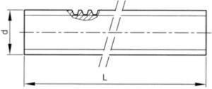 Tijă filetată, lungime 1 metru, filet stânga Oțel Simplu C15 Tr36X6