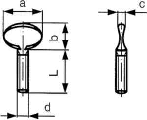 Füles csavar Öntöttvas 35 Horganyzott M5X12