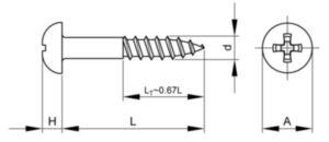 Woodscrew cross reccessed round head asme b18.6.1 ASME B18.6.1 Carbon steel SAE Zinc plated #8X1.1/4