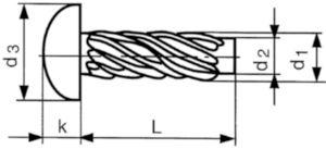 Fausse vis à métaux Acier Nickelé 2,9X6,5MM