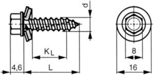 SFS-Topform Vis pour toiture avec rondelle d'étanchéité élastique Acier inoxydable (Inox) A2 A/Grand conditionnement 6,5X40MM