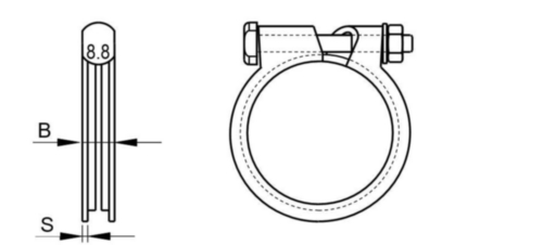 ABA Abrazadera Acero Cincado R33-1,5MM