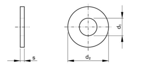 Podložka na skrutky s ťažkými pružnými kolíkmi DIN 7349 Oceľ Pozinkované žlto pasivované 200 HV (<gt/>M16 100HV) M8