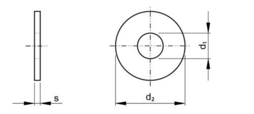 Şaibă plată tip L NF E25-513 Oțel inoxidabil A4 100 HV M20
