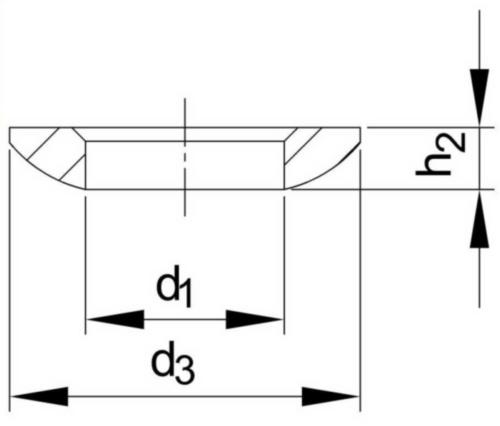 Rondelle à portée sphérique DIN 6319 C Acier inoxydable (Inox) A2 M36
