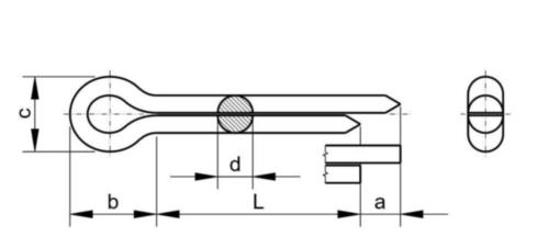 Goupille cylindrique fendue DIN 94 Acier Electro zingué 1,6X16MM