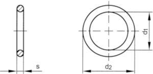 Arandela de ajuste h=2,5 DIN 7603 C Cobre/FESTAPLAN h=2,5±0.4 35X41MM