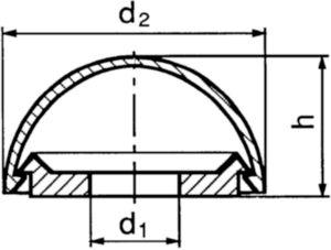 Príchytná krytka pre skrutky Plast Polyamid (nylon) 6.6 M4