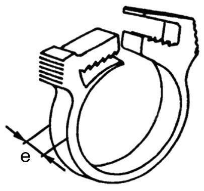 Hadicová svorka Plast Polyamid (nylon) 6.6 15,0-17,2MM