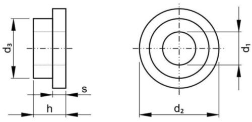 Sluitring met kraag Kunststof Polyamide (nylon) 6.6 M5