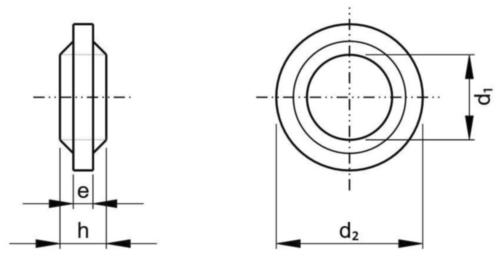 Rögzítő alátét Műanyag Poliamid (nejlon) 6.6 M8
