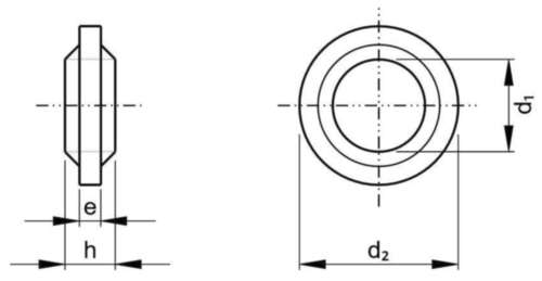 Borg- en afdichtring Kunststof Polyamide (nylon) 6.6 M16