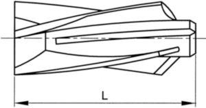 FISCHER Aircrete anchor Plastic Nylon (polyamide) GB 14