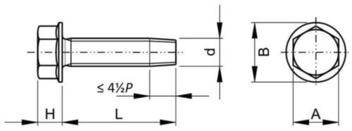 Sechskantbundschraube, selbstschneidend Stahl Elektrolytisch verzinkt 1/4-20X5/8