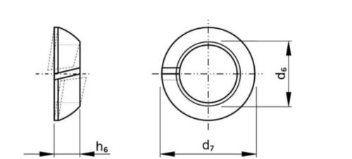 Anilha de mola cónica DIN 74361-2 C Aço mola Zincado M18