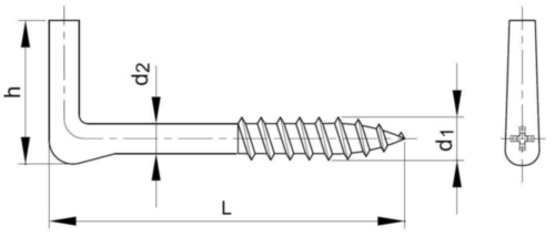 Alcayata Acero Cincado 5,8X65MM