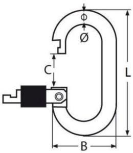 Karabina spojistnou maticí Nerezocel A4 8X70MM