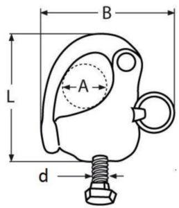 Schnappschäkel mit Schraube Rostfreistahl A4 8MM