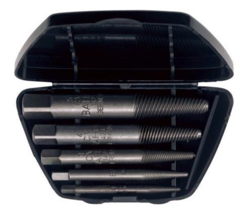 Screw extractor sets