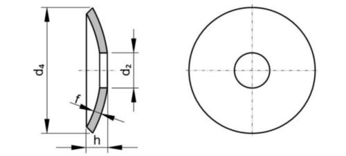 Arandela para tornillo de elevacción DIN 15237 Acero inoxidable (Inox) A4 M8
