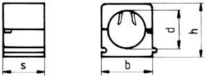 FISCHER Klikzadel type SCH Kunststof Polyamide (nylon) SCH 12-16MM
